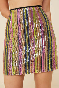 Multi-colored Sequence Mini Skirt - Adventurista Boutique