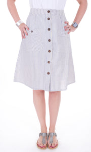 Button Down Skirt - Adventurista Boutique