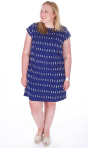 Ikat Dress Museo Shift Dress - Adventurista Boutique