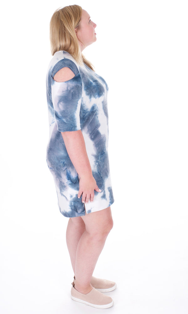 Tie-Dye Cutout French Terry Dress - Adventurista Boutique