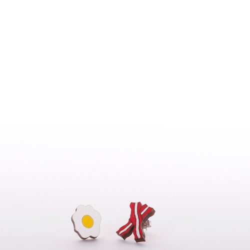 Bacon And Egg Earrings - Adventurista Boutique