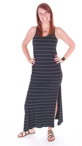 Striped Maxi Dress - Adventurista Boutique