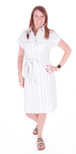Button Down Shirt Dress - Adventurista Boutique