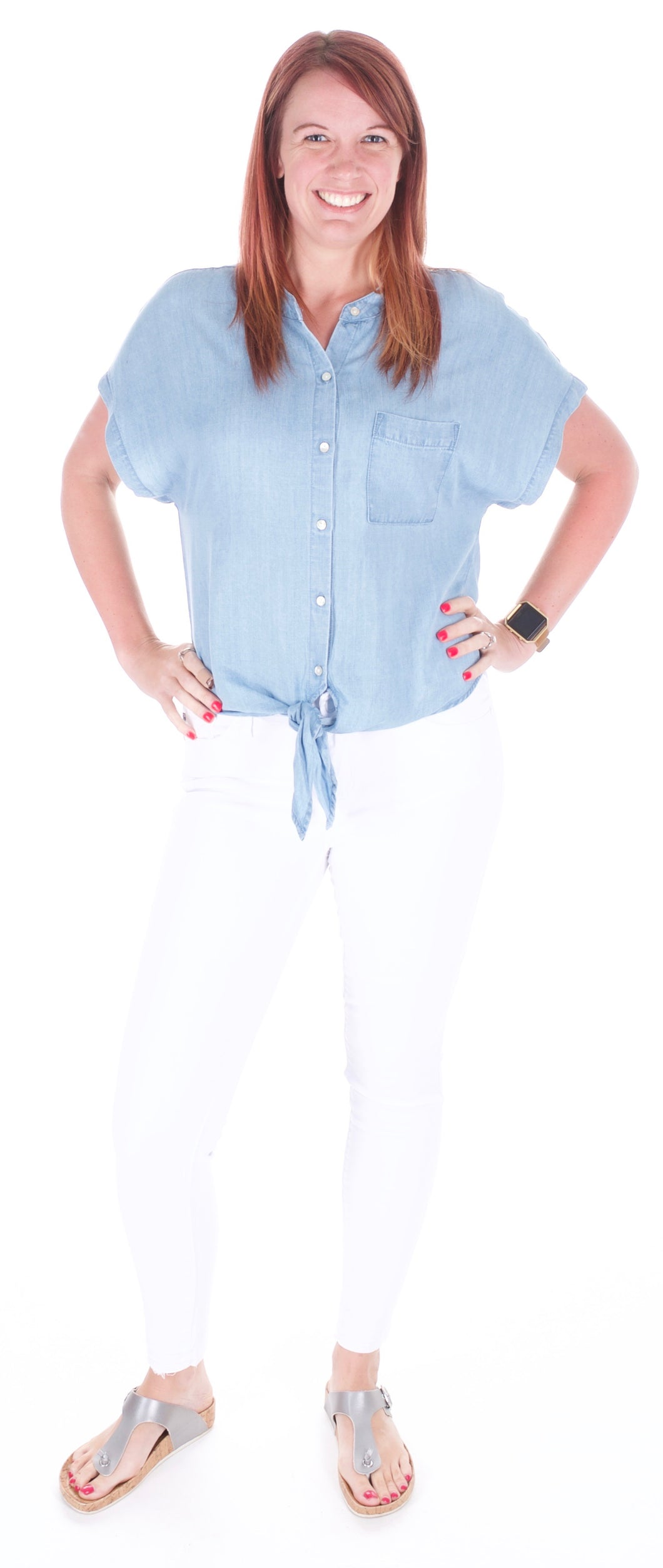 Chambray Top - Adventurista Boutique