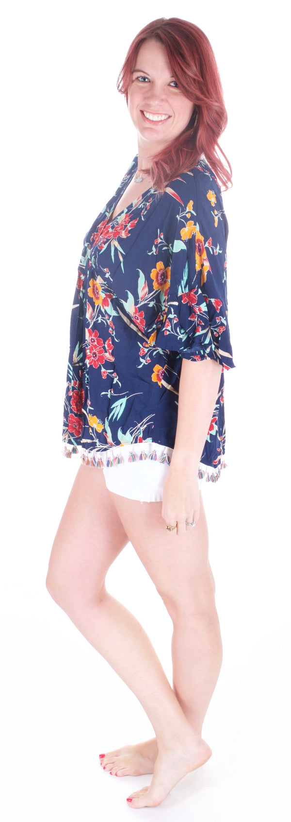 Floral and Fringe Shirt - Adventurista Boutique