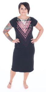 Triangle T-shirt Dress - Adventurista Boutique