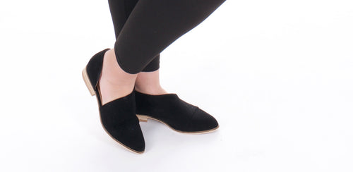 Wherever You Go Cutout Bootie in Black - Adventurista Boutique