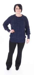 Bishop Sleeve Sweater in Denim - Adventurista Boutique