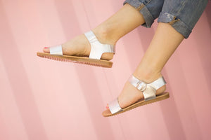 Sophia Sandal in Silver - Adventurista Boutique