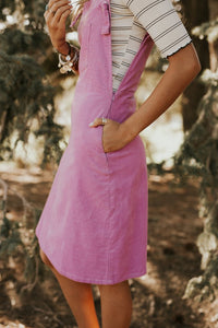 Lavender Corduroy Dress - Adventurista Boutique