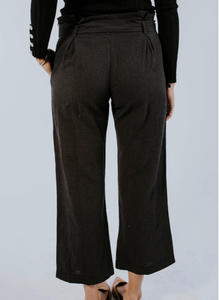Plaid Charcoal Pants - Adventurista Boutique
