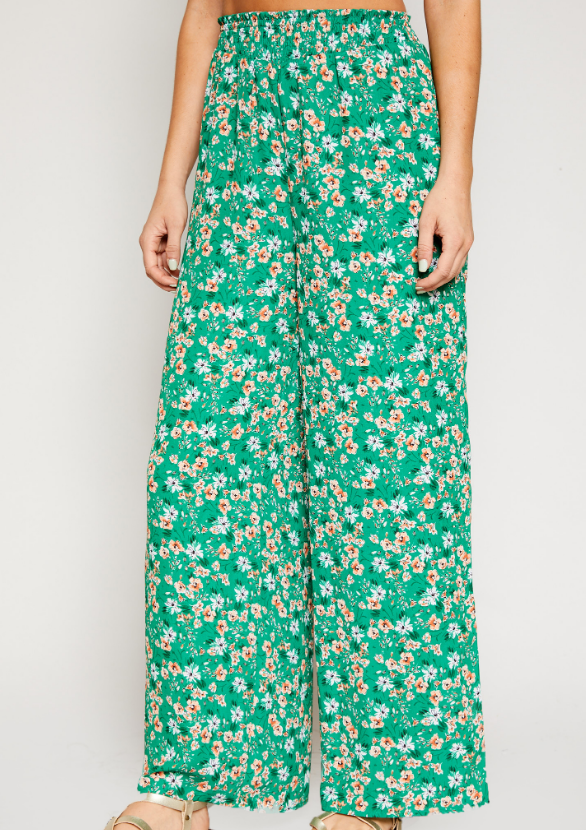 So Lush Smocked Pants - Adventurista Boutique