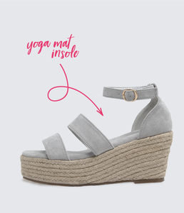 Amara Platform Wedge in Grey - Adventurista Boutique