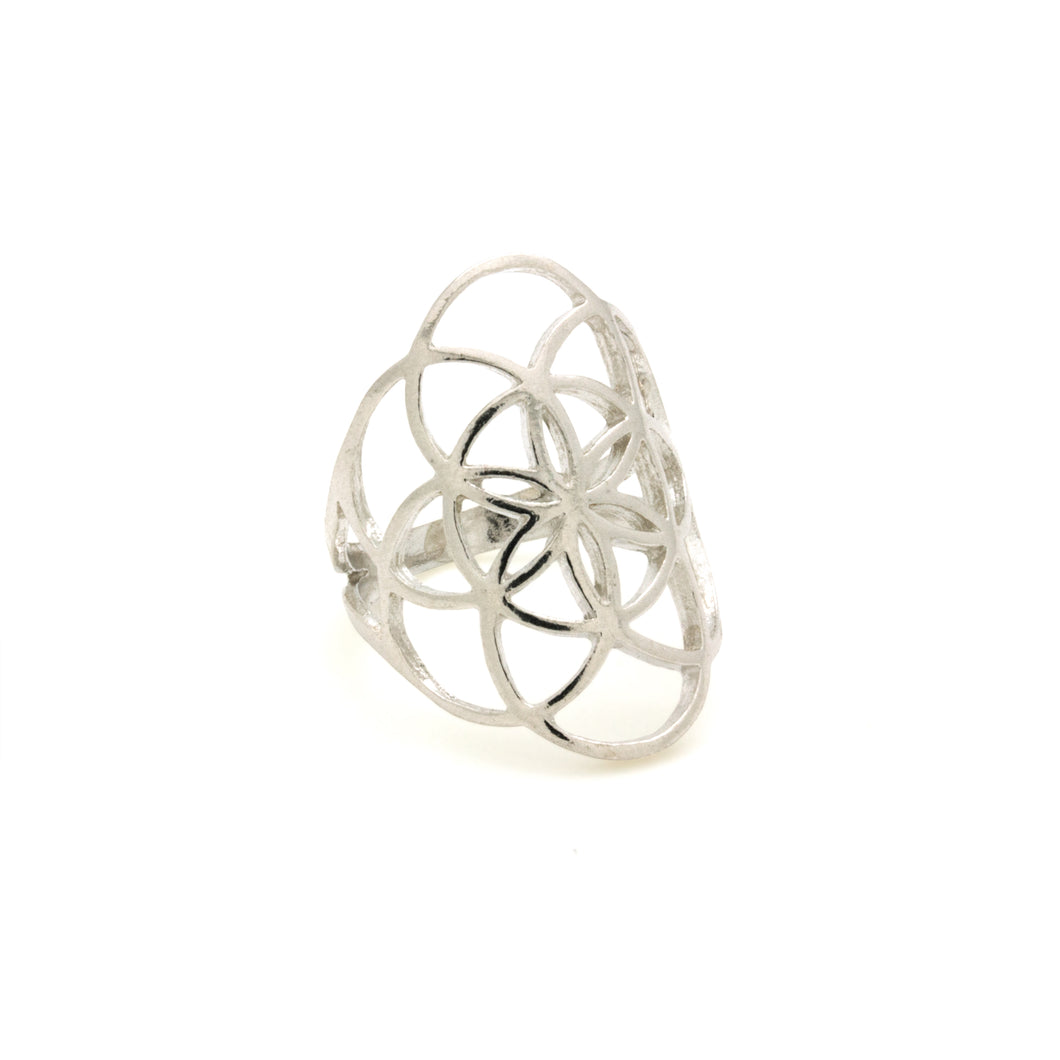 Seed of Life Ring in Silver - Adventurista Boutique