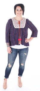 PomPom Bell Sleeve Cardigan - Adventurista Boutique
