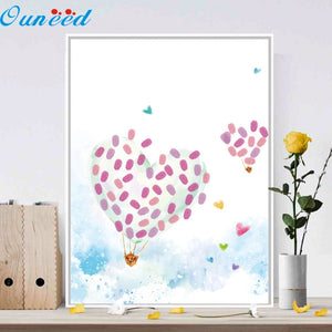 Air Balloon Fingerprint Guest Book