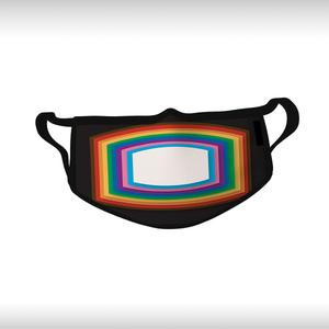 3D Rainbow Face Mask