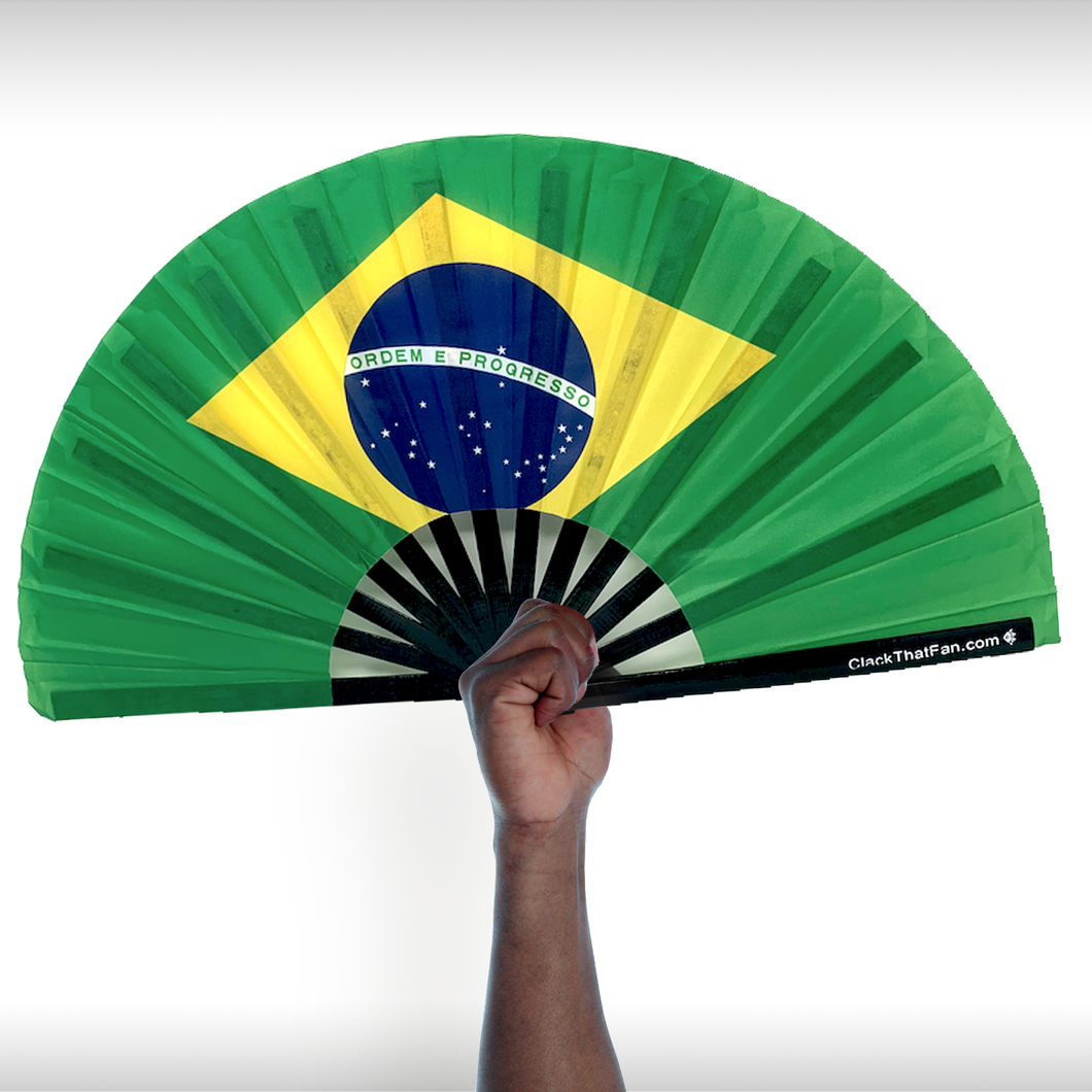 Brazil Flag Clack Fan™