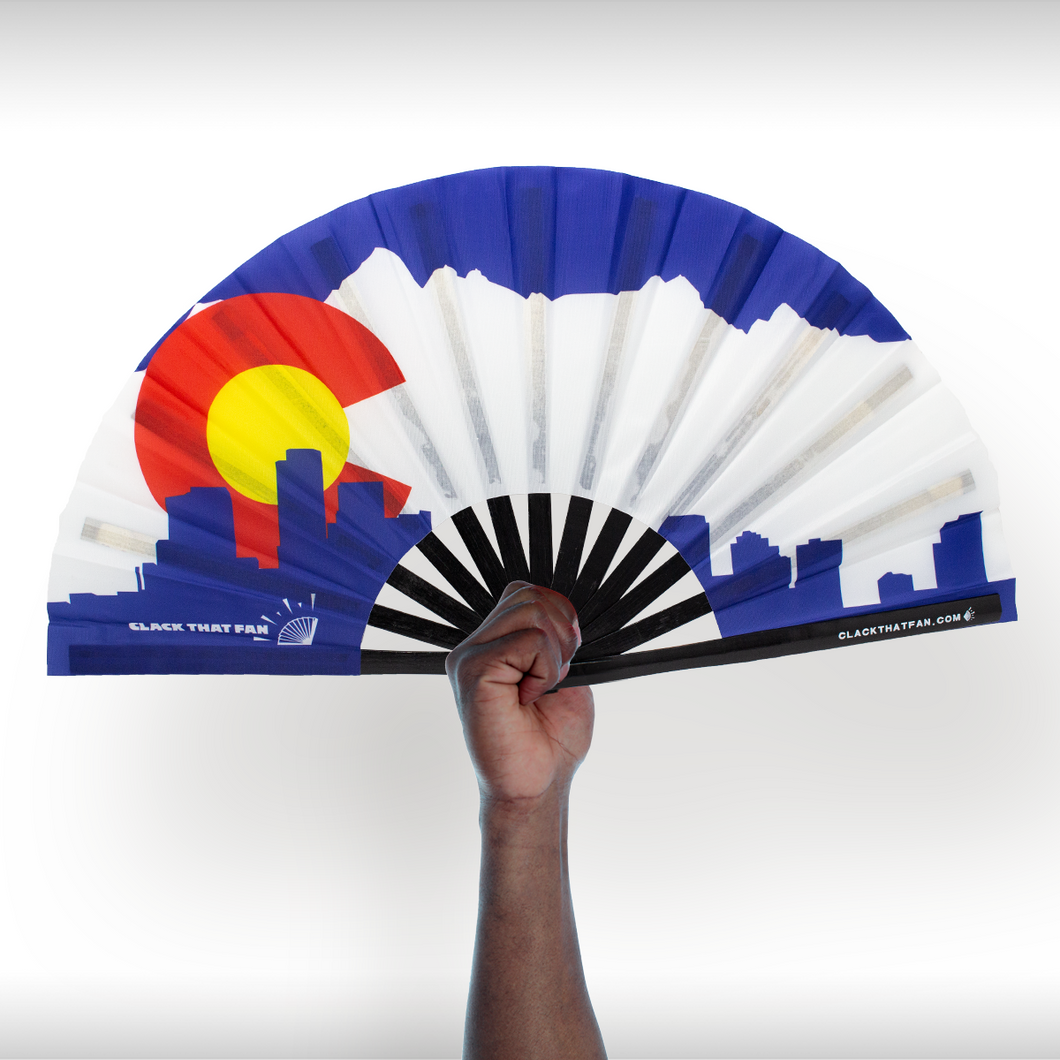 Denver Colorado Flag Clack Fan™
