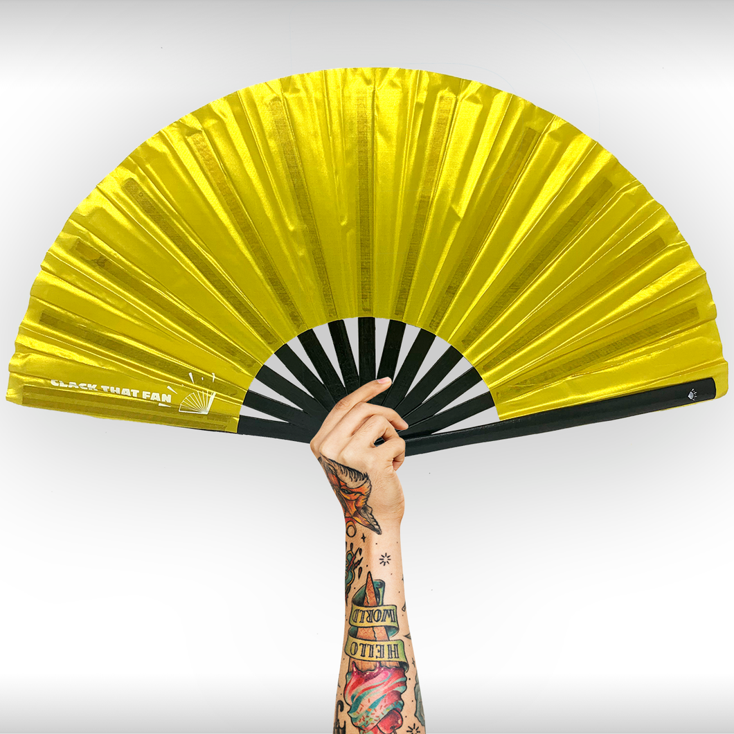 Solid Gold Bamboo Clack Fan™
