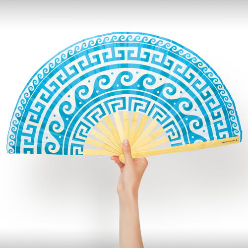 Greek Key Fan