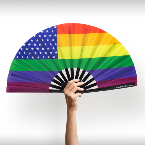 Pride American Flag Fan