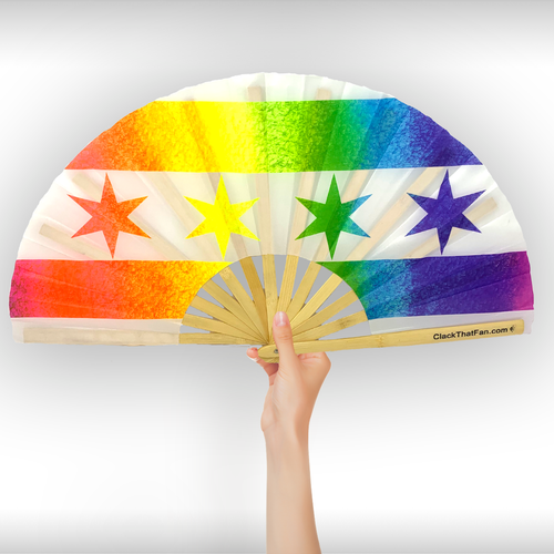 UV Pride Chicago Flag Clack Fan™