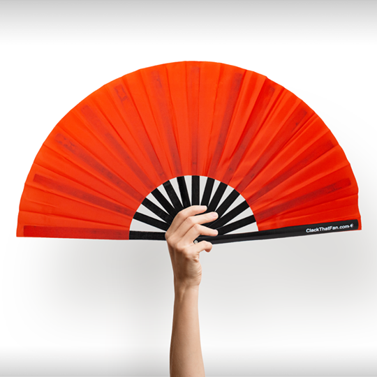 Solid Red Bamboo Clack Fan™