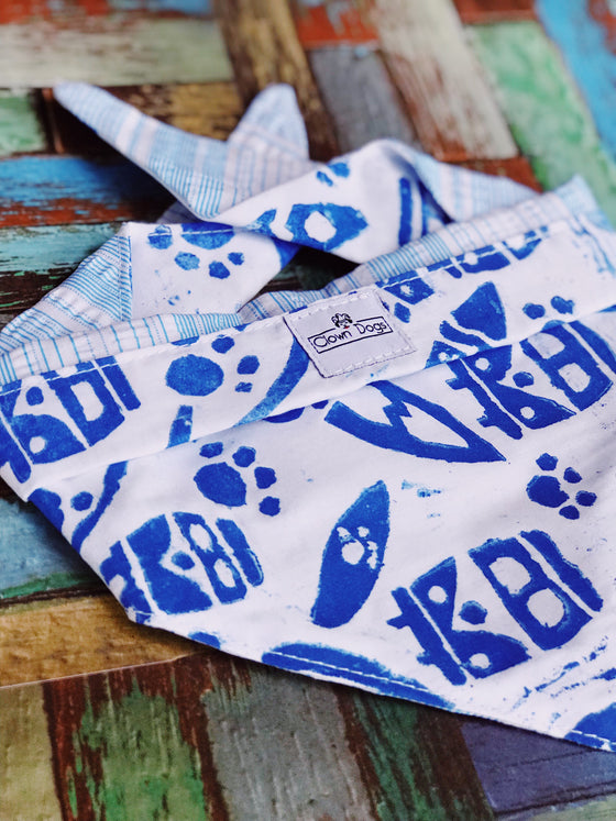 Surfs Up Dog Bandanna | Pet Scarves