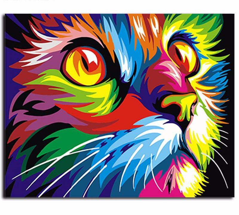 Colorful Cat VanGo™ Paint-By-Number Kit
