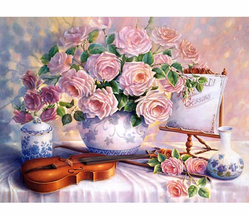 Serenade With Flowers VanGo™ Paint-By-Number Kit