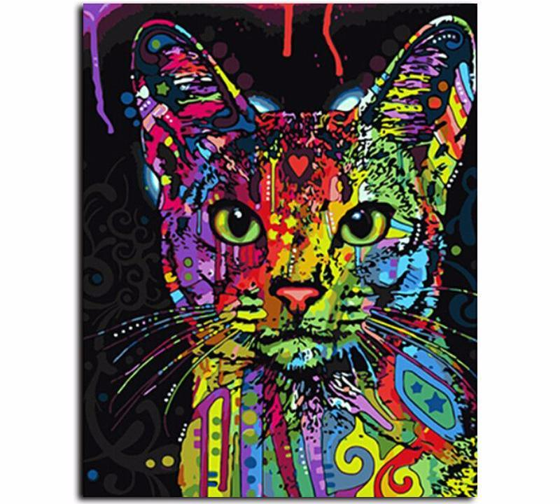 Fearless Cat VanGo™ Paint-By-Number Kit