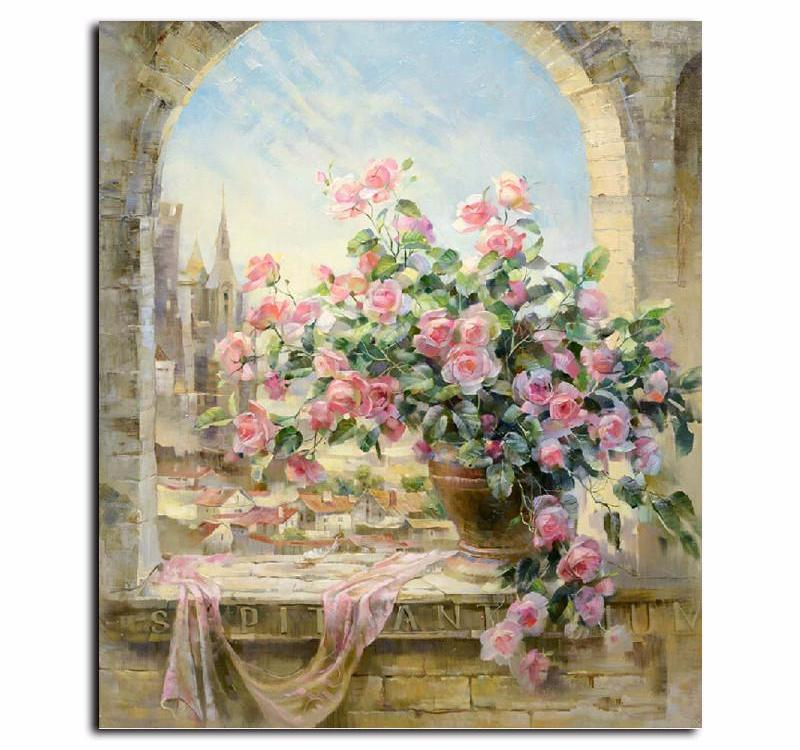 Pink Roses VanGo™ Paint-By-Number Kit