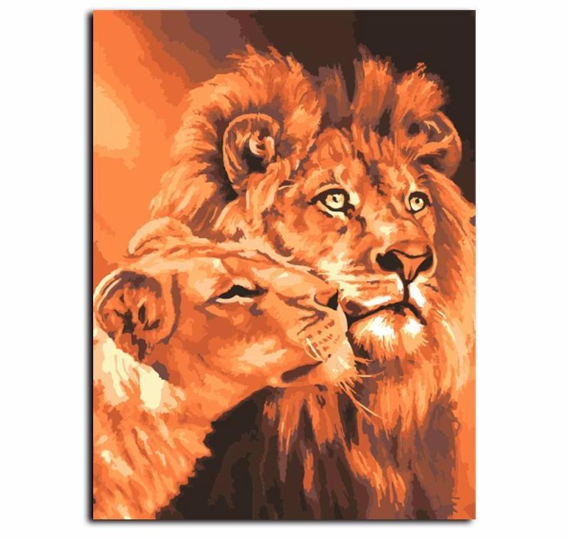 Mourning Lion VanGo™ Paint-By-Number Kit