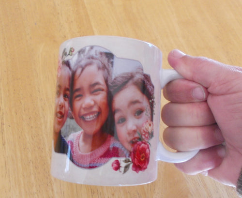 Mug gift personalised with your photo. Posted Australia wide.