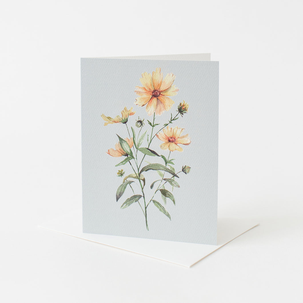 Coreopsis Flower Card