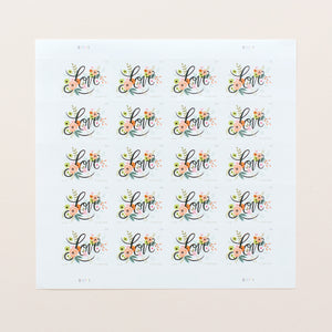 Love Flourishes Stamp Sheet