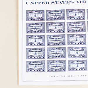 Air Mail Stamp Sheet