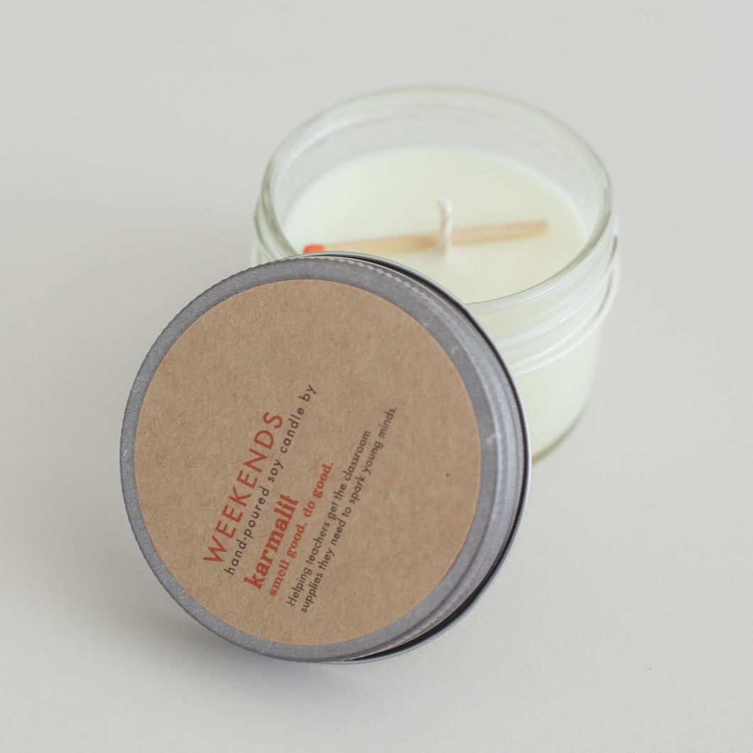 Weekends Mini Candle