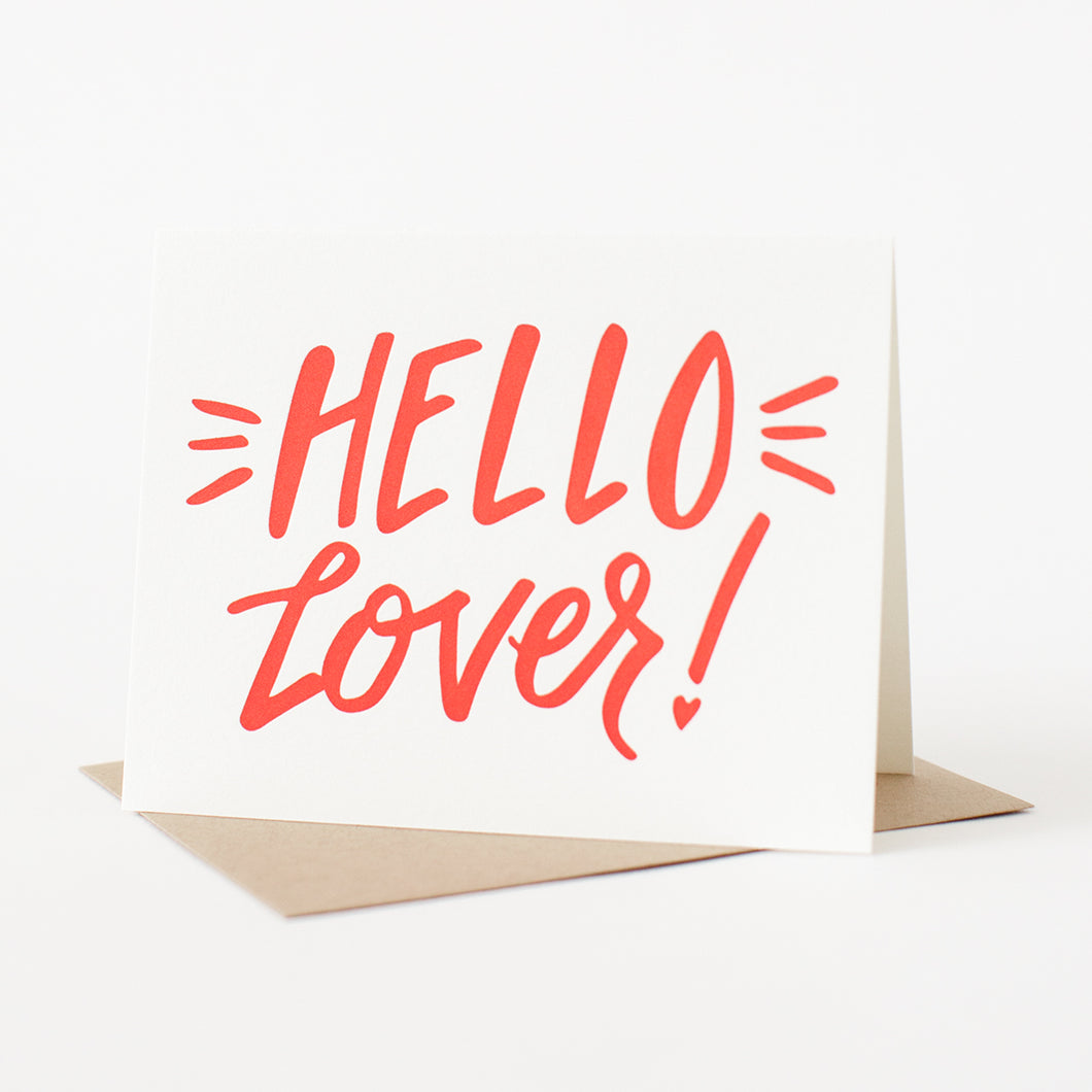Hello Lover! Letterpress Card
