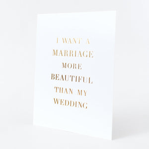 A Beautiful Marriage Art Print