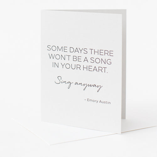 Sing Anyway Letterpress Card