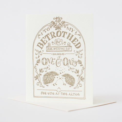 Betrothed Letterpress Card