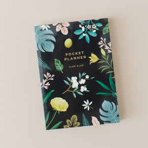 Black Floral Pocket Planner