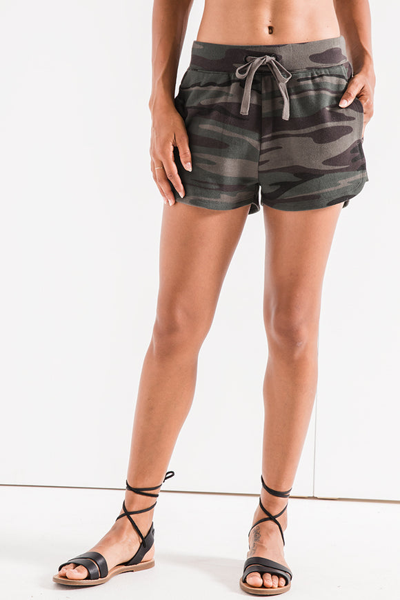 Camo Knit Runner Shorts