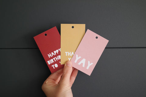 Block Colours Gift Tag Set
