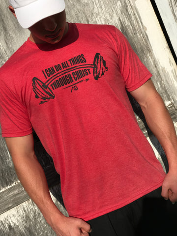 PHILIPPIANS 4:13 TEE - RED FROST
