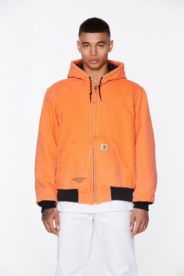 Orange Hooded Hubble Studio Canvas Jacket