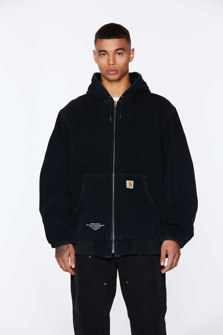 Black Hooded Hubble Studio Canvas Jacket