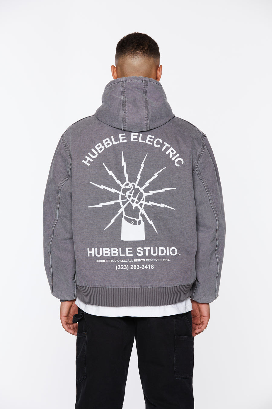 Gray Hooded Hubble Studio Canvas Jacket